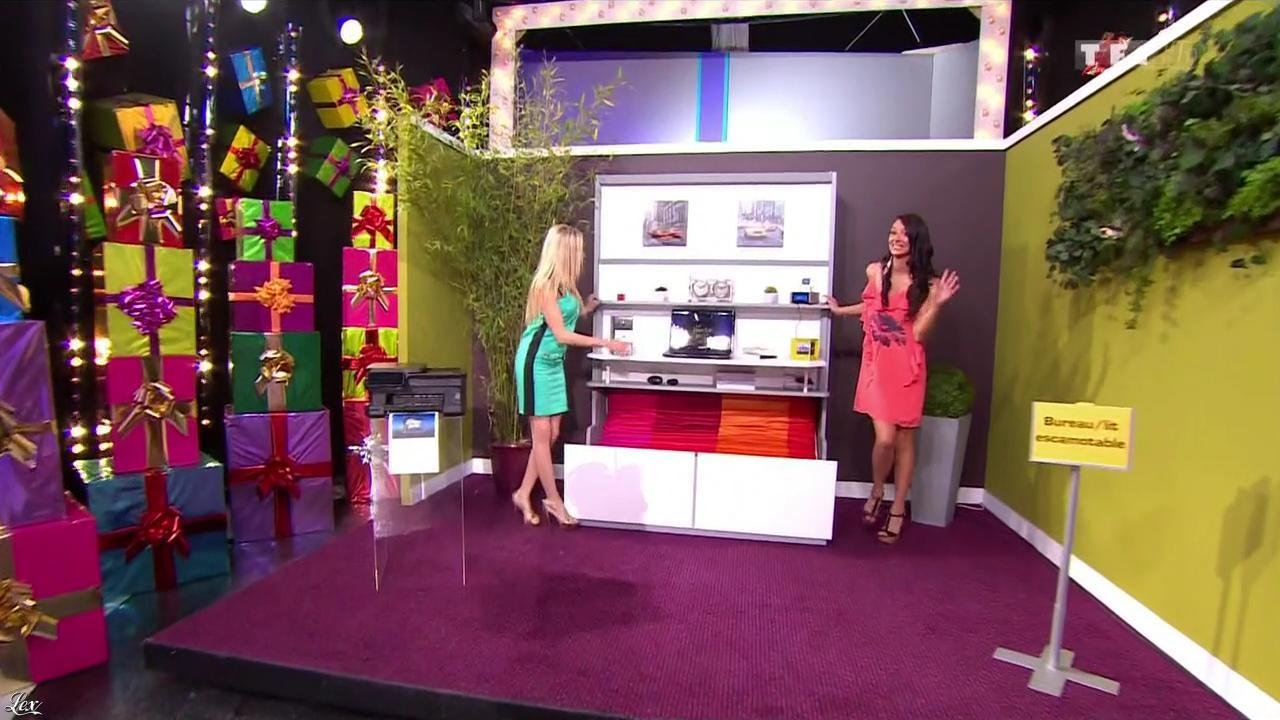 Les Gafettes, Fanny Veyrac et Nadia Aydanne dans le Juste Prix. Diffusé à la télévision le 04/10/13.