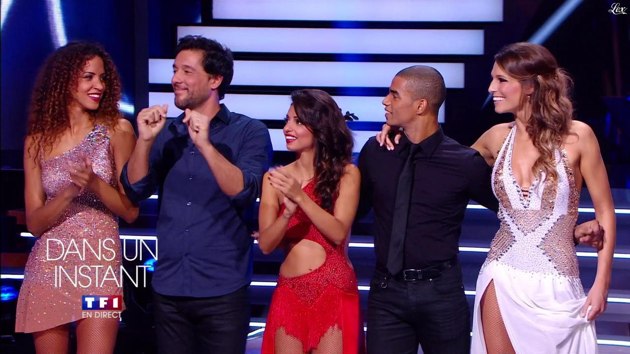 Tal, Noemie Lenoir et Laury Thilleman dans Danse Avec les Stars. Diffusé à la télévision le 05/10/13.