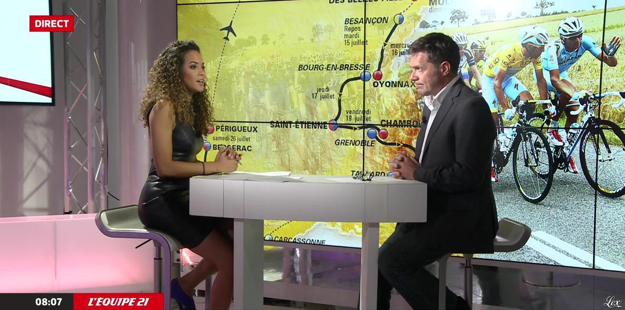 Andrea Decaudin dans le JT. Diffusé à la télévision le 22/07/14.