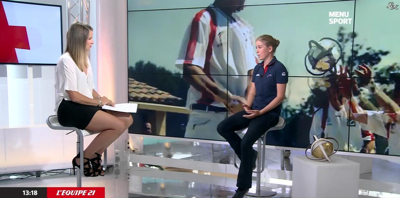 France Pierron dans Menu Sport. Diffusé à la télévision le 03/09/14.