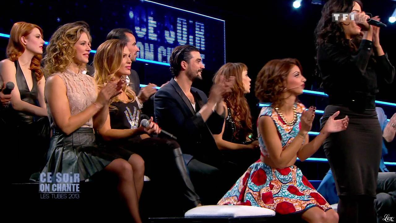 Tal, Elodie Frégé, Lorie et Vitaa dans Ce Soir On Chante. Diffusé à la télévision le 03/01/14.