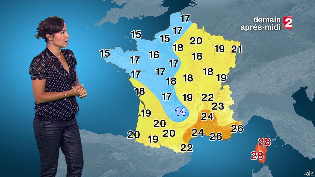Anaïs Baydemir à la Météo de 13h. Diffusé à la télévision le 13/09/15.