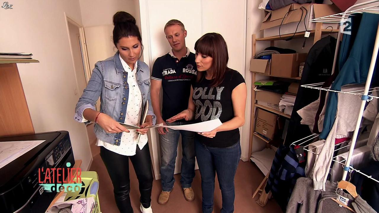 Aurélie Hemar dans l'Atelier Deco. Diffusé à la télévision le 12/09/15.