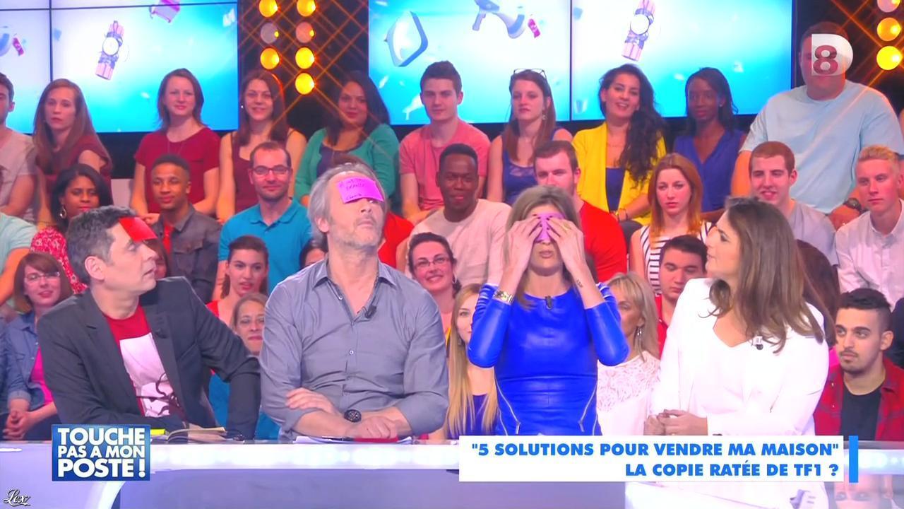 Caroline Ithurbide dans Touche pas à mon Poste. Diffusé à la télévision le 20/04/15.