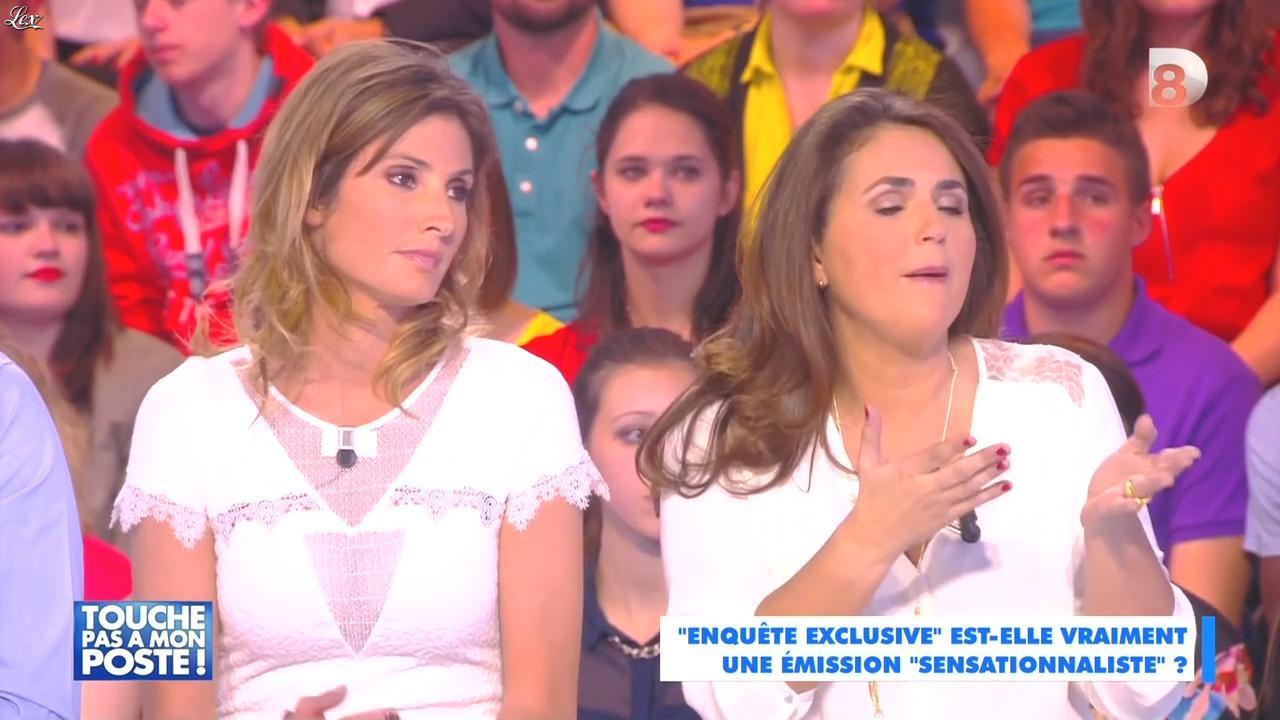 Caroline Ithurbide dans Touche pas à mon Poste. Diffusé à la télévision le 22/04/15.