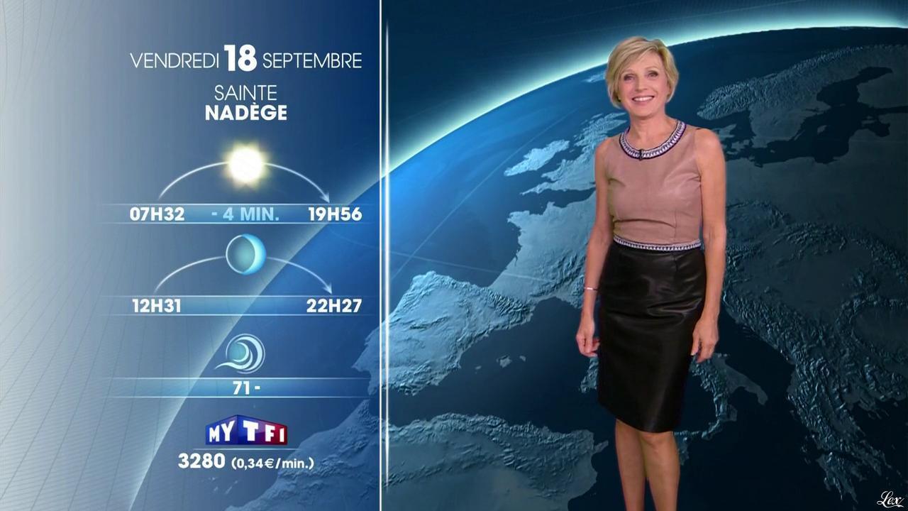 Evelyne Dhéliat à la Météo de 20h. Diffusé à la télévision le 17/09/15.