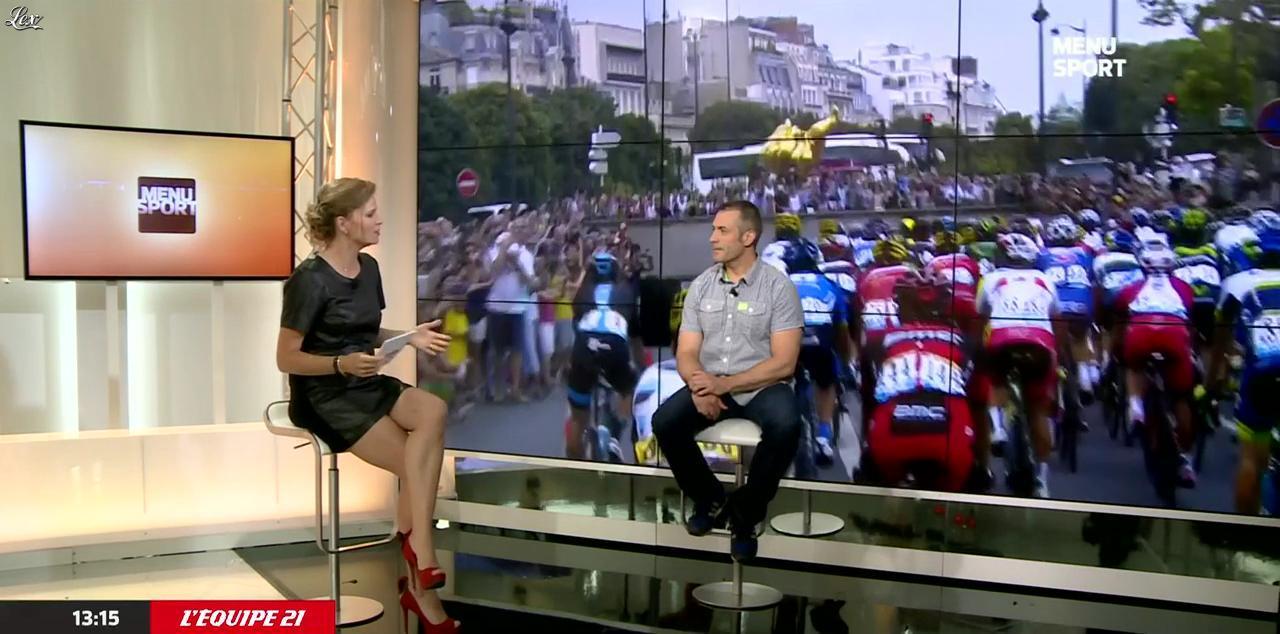 France Pierron dans Menu Sport. Diffusé à la télévision le 02/07/15.