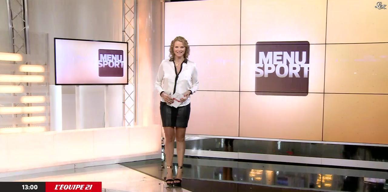 France Pierron dans Menu Sport. Diffusé à la télévision le 10/08/15.