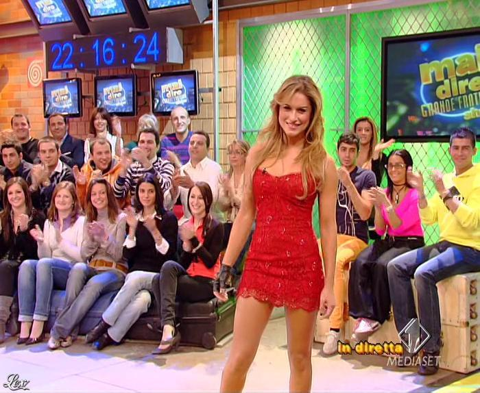 Lola Ponce dans Mai Dire Grande Fratello Show. Diffusé à la télévision le 17/03/09.