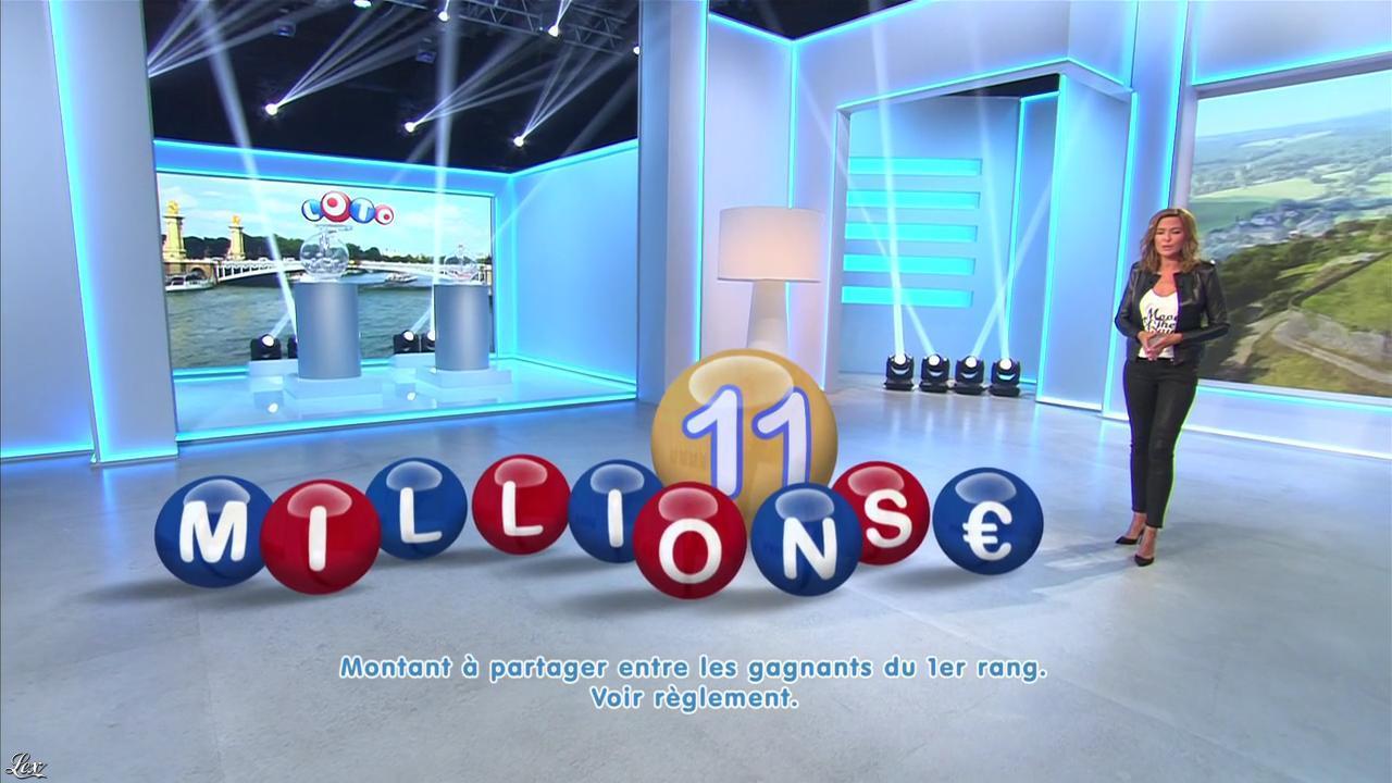 Sandrine Quétier lors du Tirage du Loto. Diffusé à la télévision le 05/09/15.