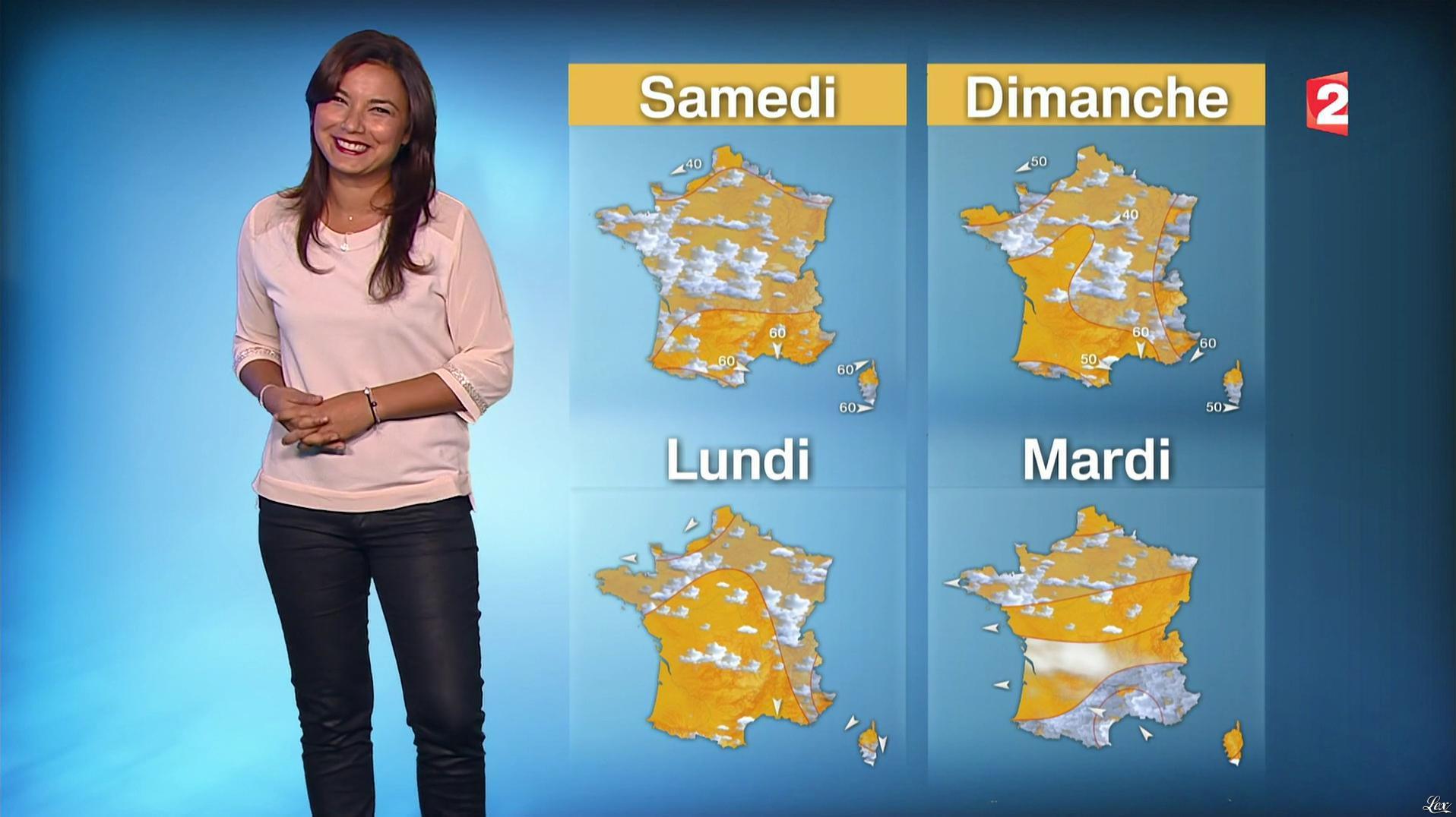 Anaïs Baydemir à la Météo de 13h. Diffusé à la télévision le 06/10/16.