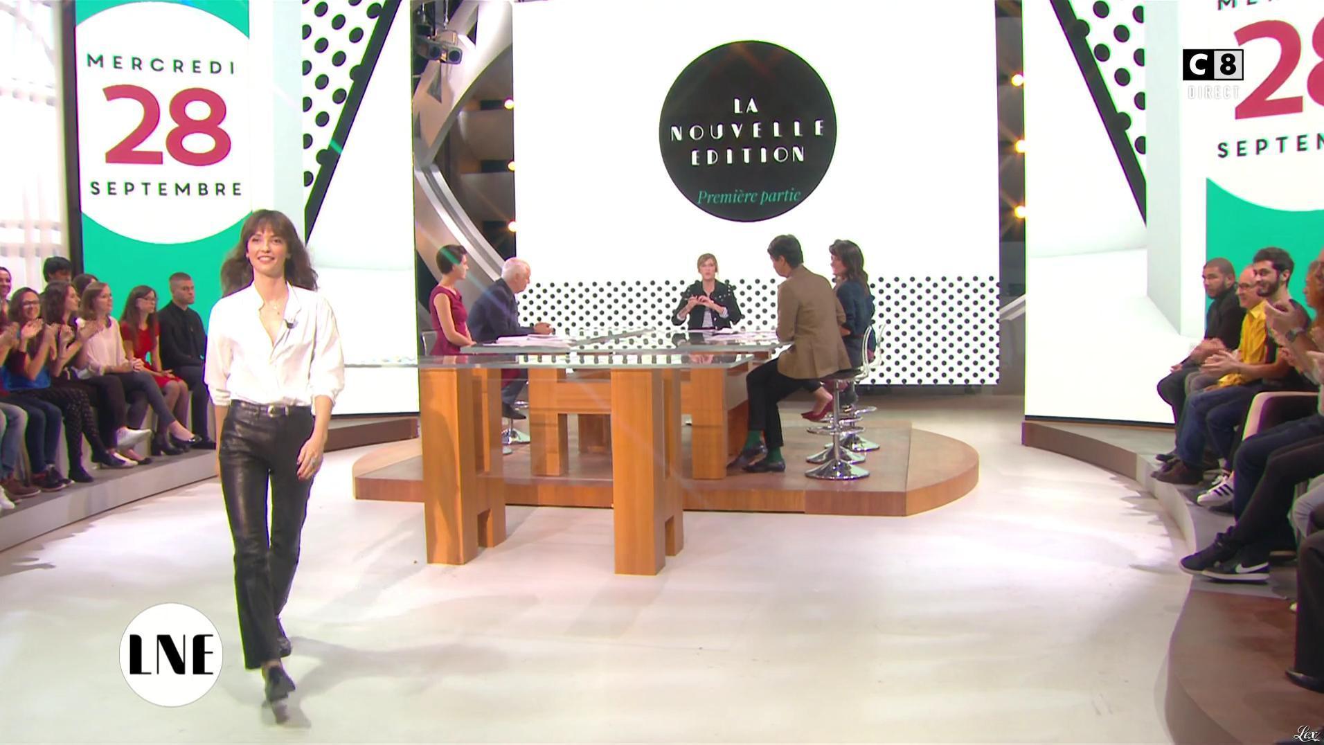 Annabelle Belmondo dans la Nouvelle Edition. Diffusé à la télévision le 28/09/16.