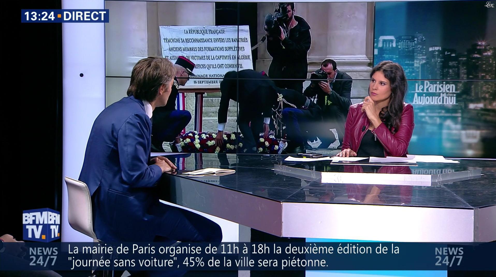 Apolline De Malherbe dans BFM Politique. Diffusé à la télévision le 25/09/16.