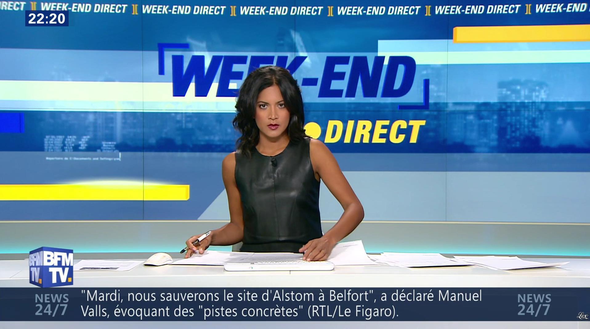 Aurélie Casse dans Week-End Direct. Diffusé à la télévision le 02/10/16.