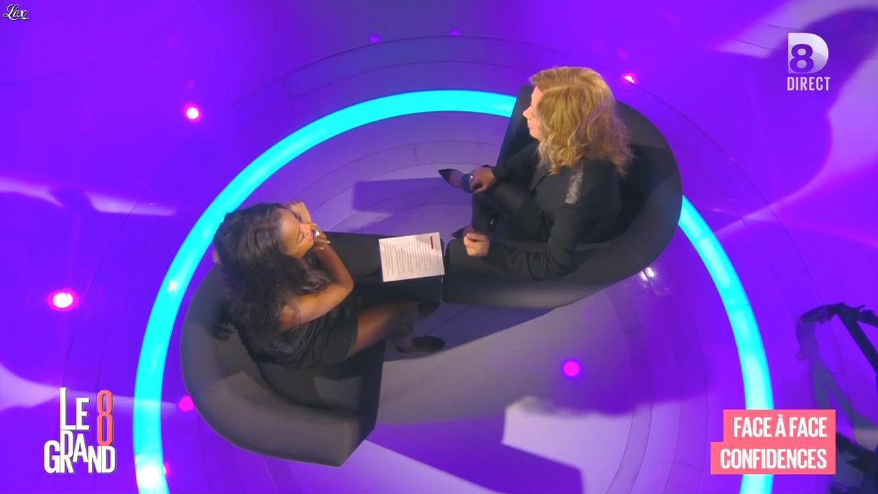 Hapsatou Sy et Lara Fabian dans le Grand 8. Diffusé à la télévision le 05/11/15.