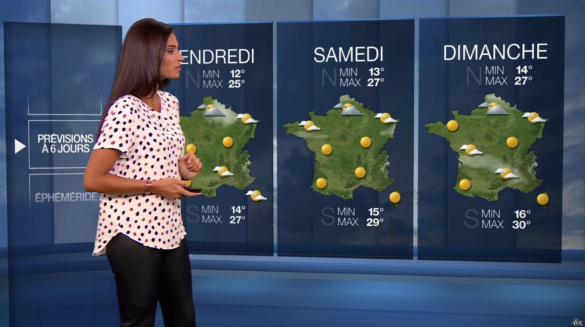 Tatiana Silva à la Météo. Diffusé à la télévision le 10/08/16.