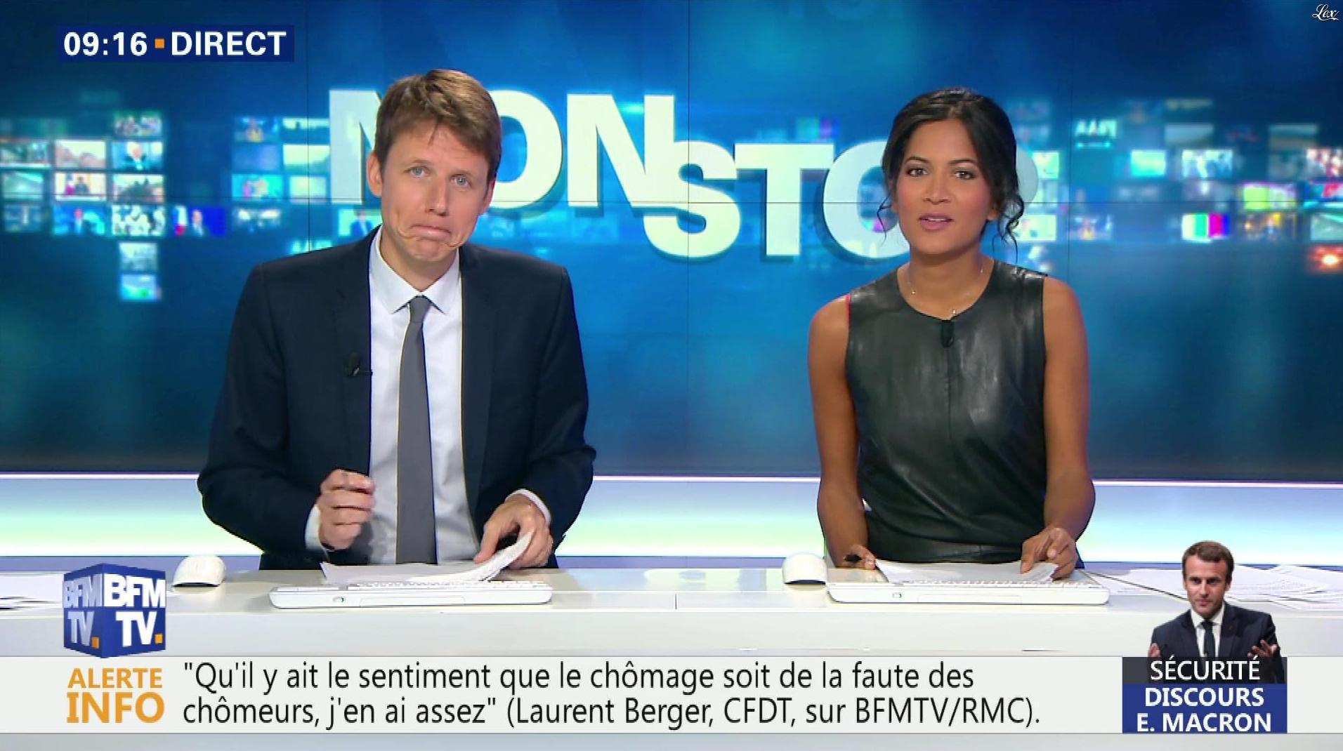 Aurélie Casse dans Non Stop. Diffusé à la télévision le 18/10/17.