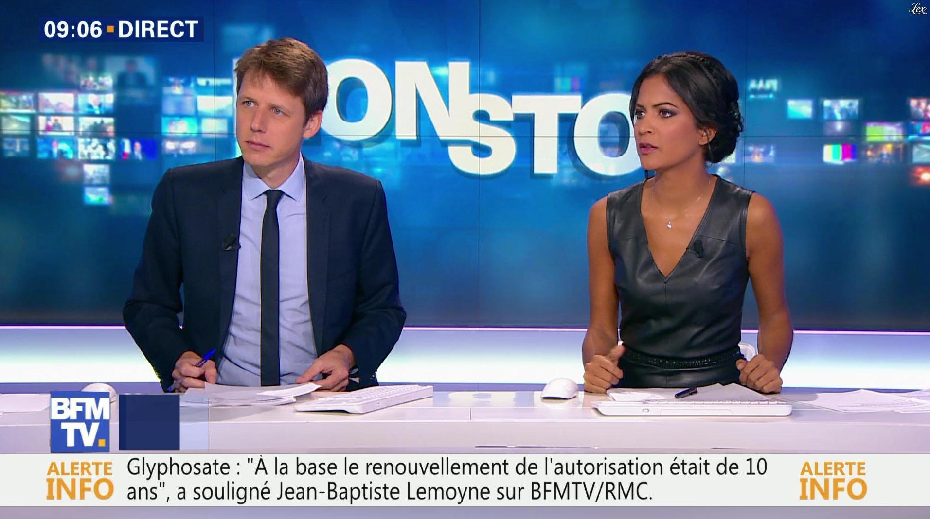 Aurélie Casse dans Non Stop. Diffusé à la télévision le 26/10/17.