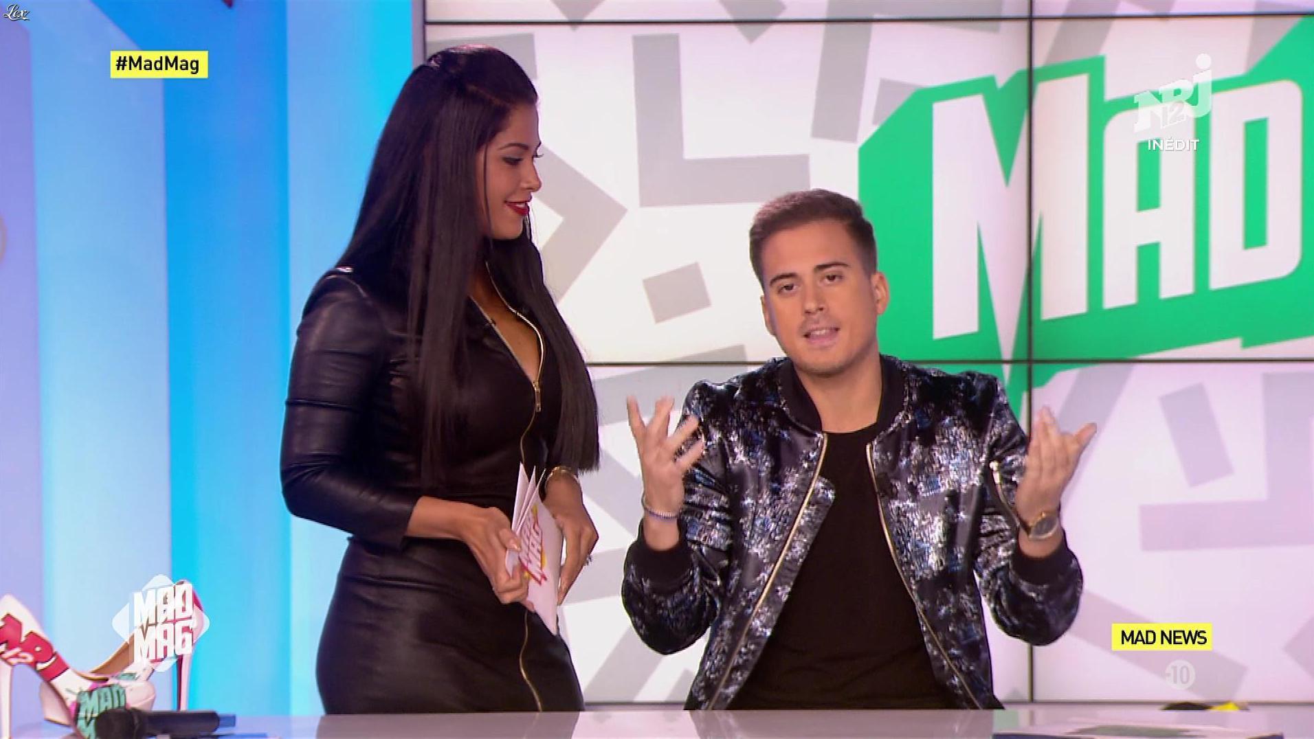 Ayem Nour dans le Mad Mag. Diffusé à la télévision le 11/10/17.