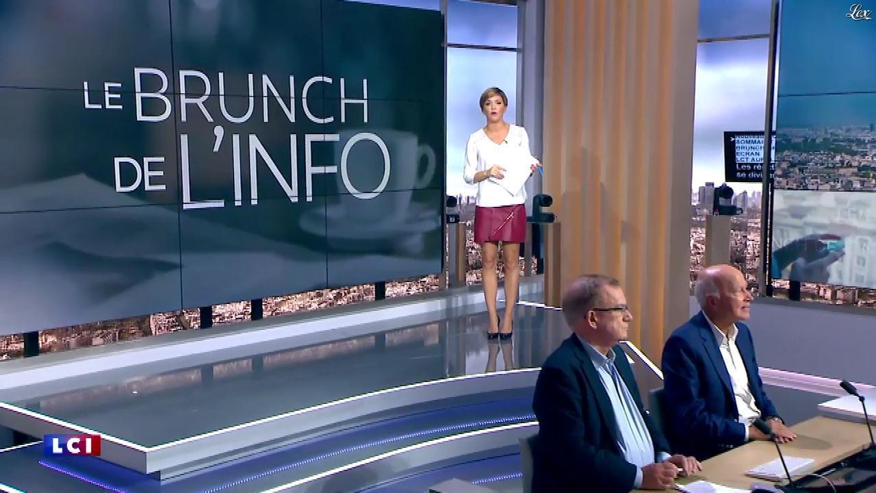 Benedicte Le Chatelier dans le Brunch. Diffusé à la télévision le 07/10/17.