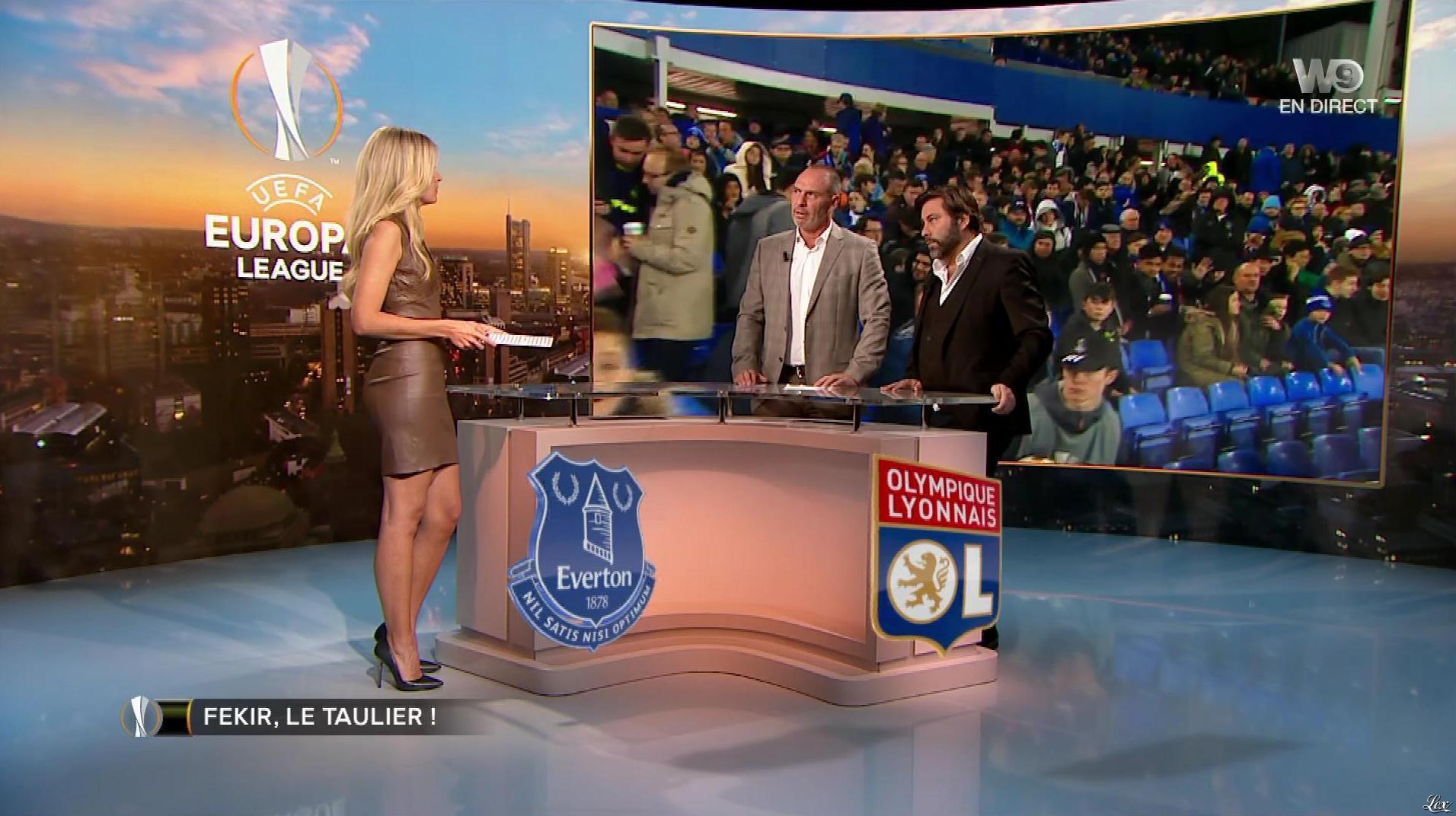 Carine Galli lors de la Soirée Europa League. Diffusé à la télévision le 19/10/17.