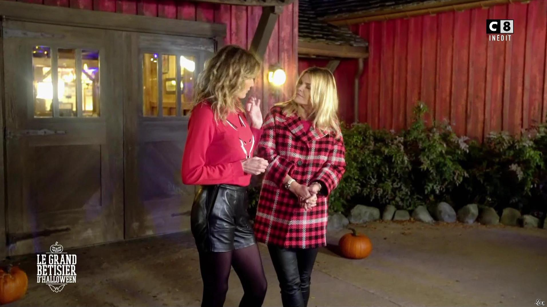 Caroline Ithurbide et Justine Fraioli dans le Bêtisier de Halloween. Diffusé à la télévision le 26/10/17.