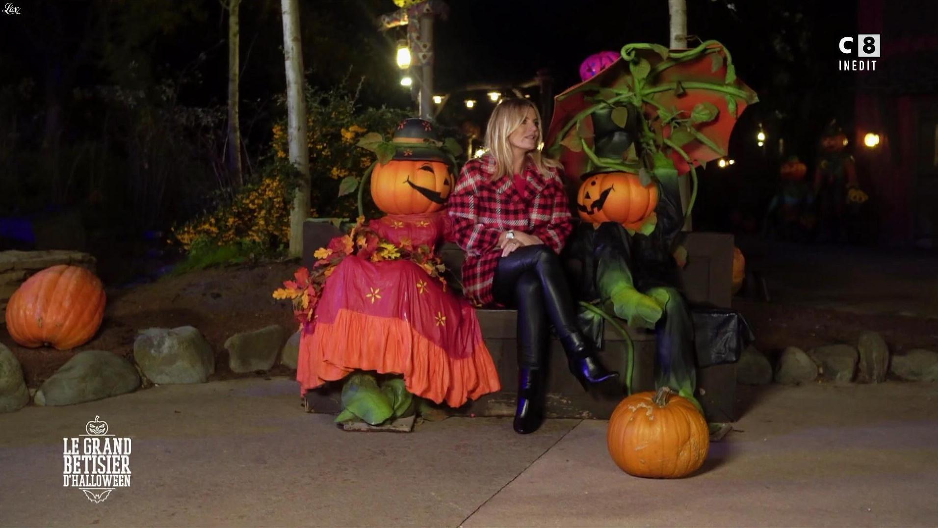 Justine Fraioli dans le Bêtisier de Halloween. Diffusé à la télévision le 26/10/17.