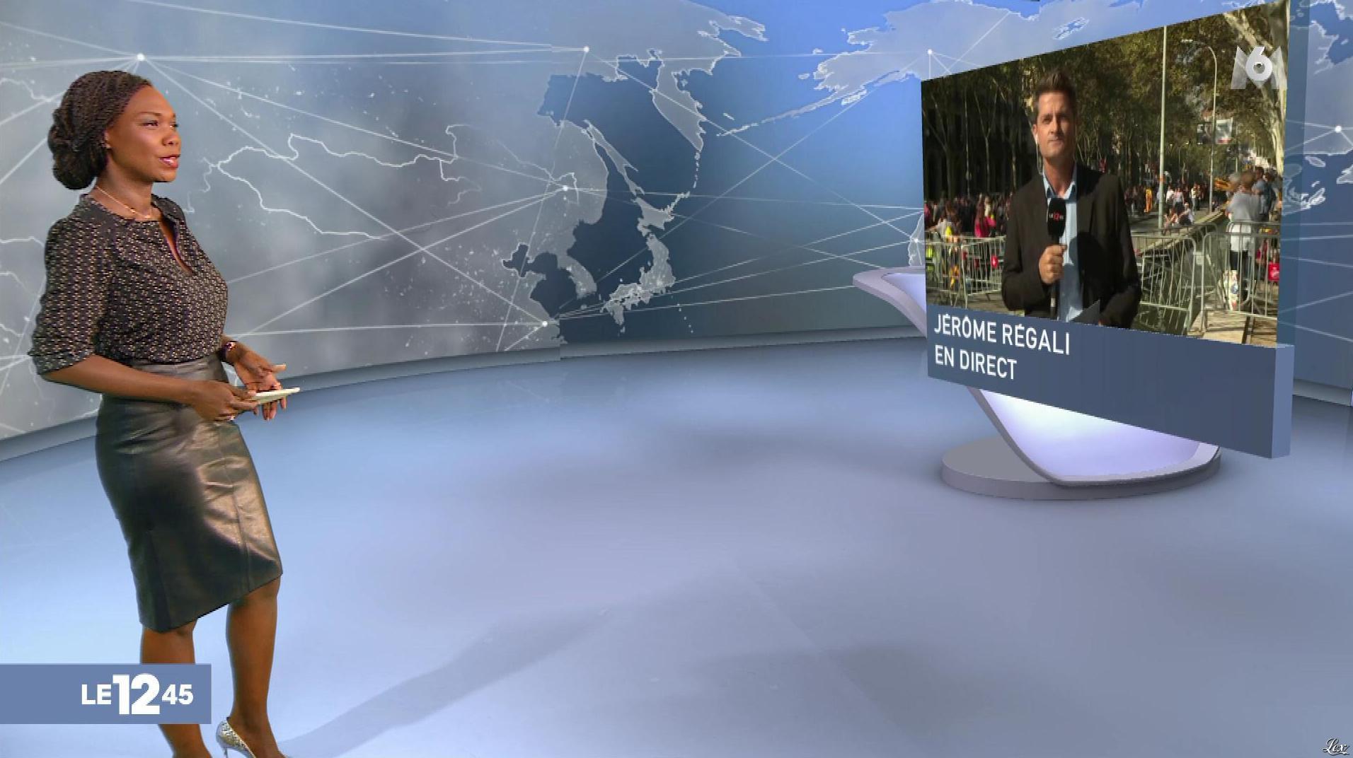 Kareen Guiock dans le 12-45. Diffusé à la télévision le 27/10/17.
