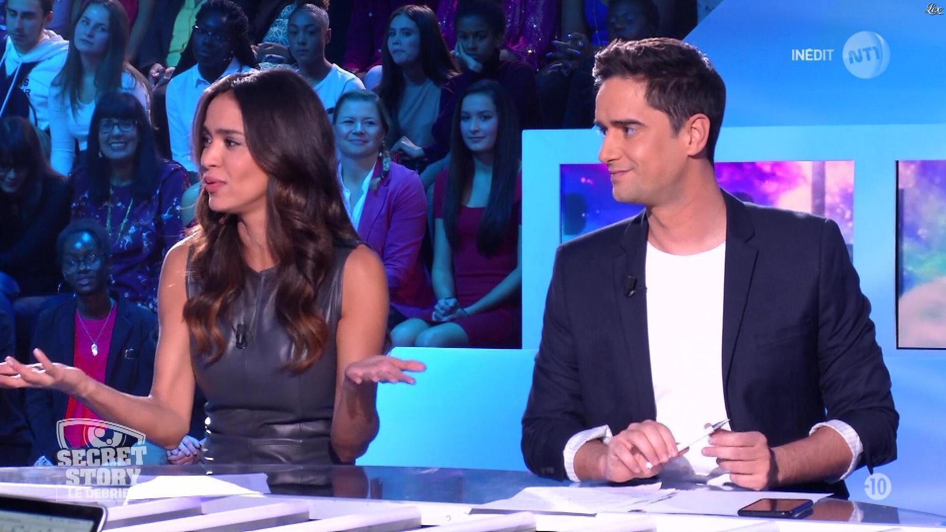 Leïla Ben Khalifa dans Secret Story le Debrief. Diffusé à la télévision le 23/10/17.