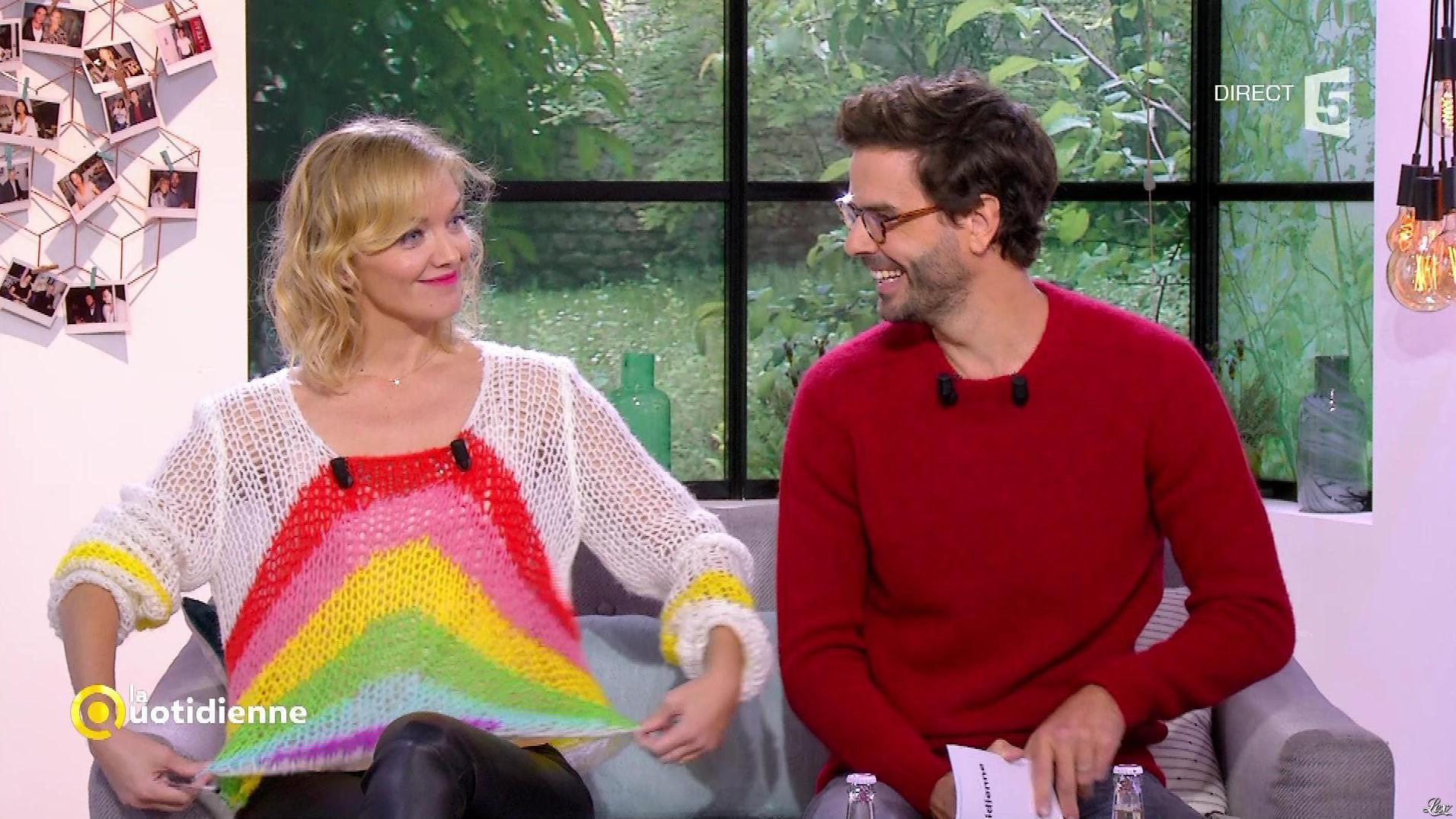 Maya Lauqué dans la Quotidienne. Diffusé à la télévision le 24/10/17.
