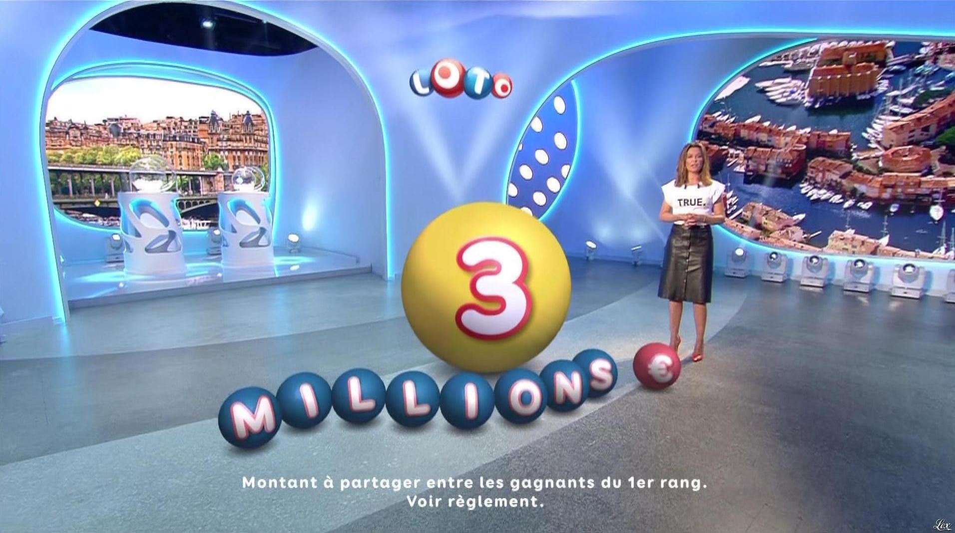 Sandrine Quétier lors du Tirage du Loto. Diffusé à la télévision le 11/10/17.