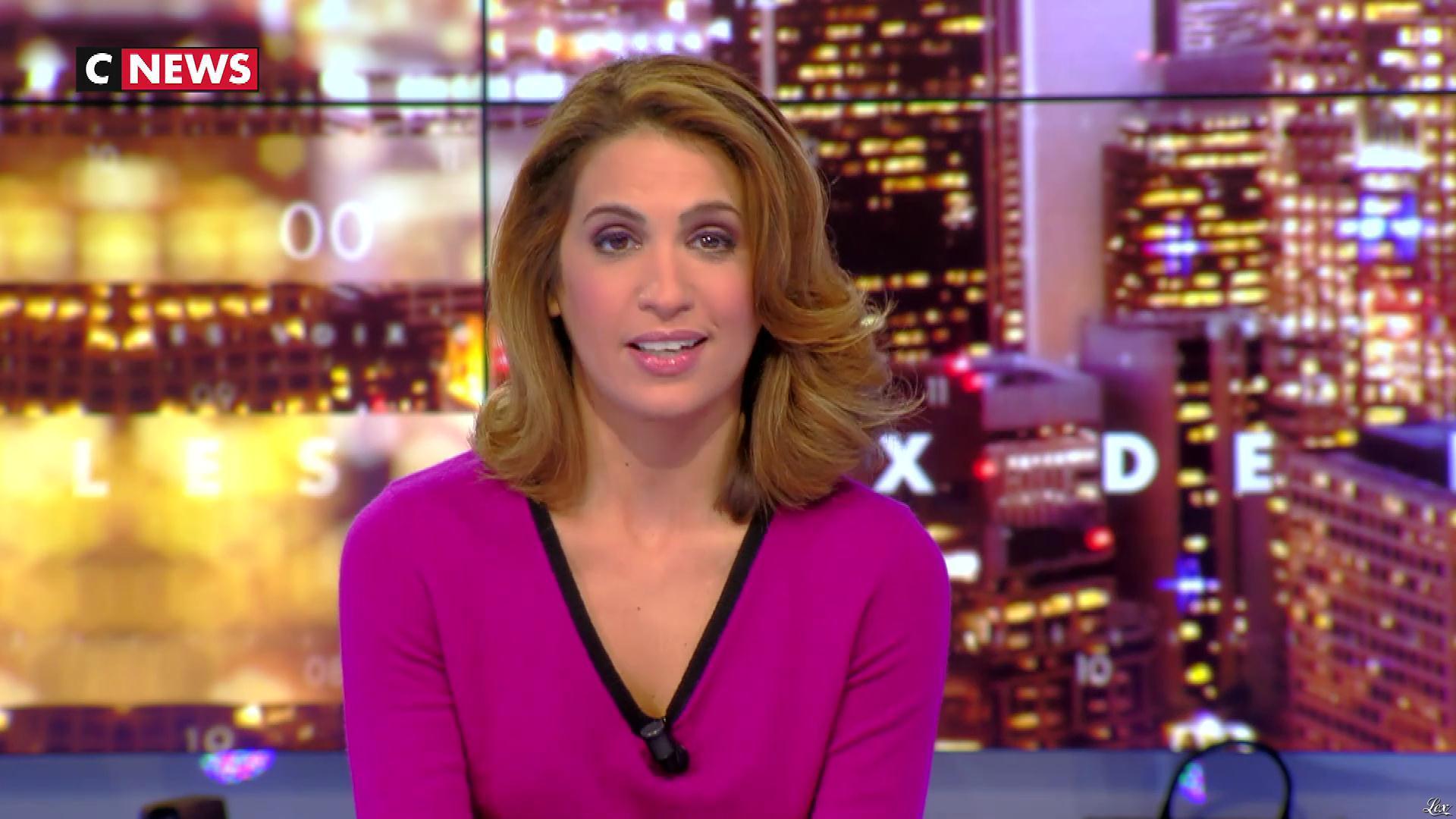 Sonia Mabrouk dans les Voix de l'Info. Diffusé à la télévision le 24/10/17.