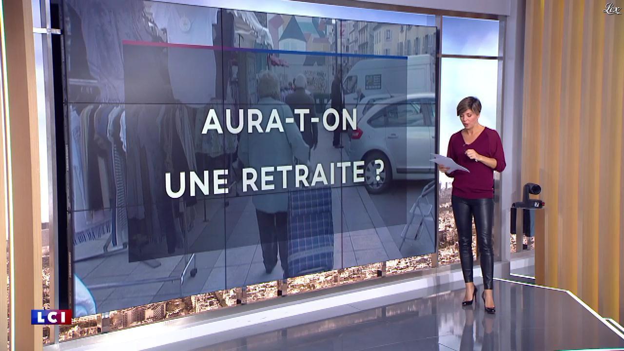 Bénédicte Le Chatelier dans le Brunch de l'Info. Diffusé à la télévision le 13/10/18.