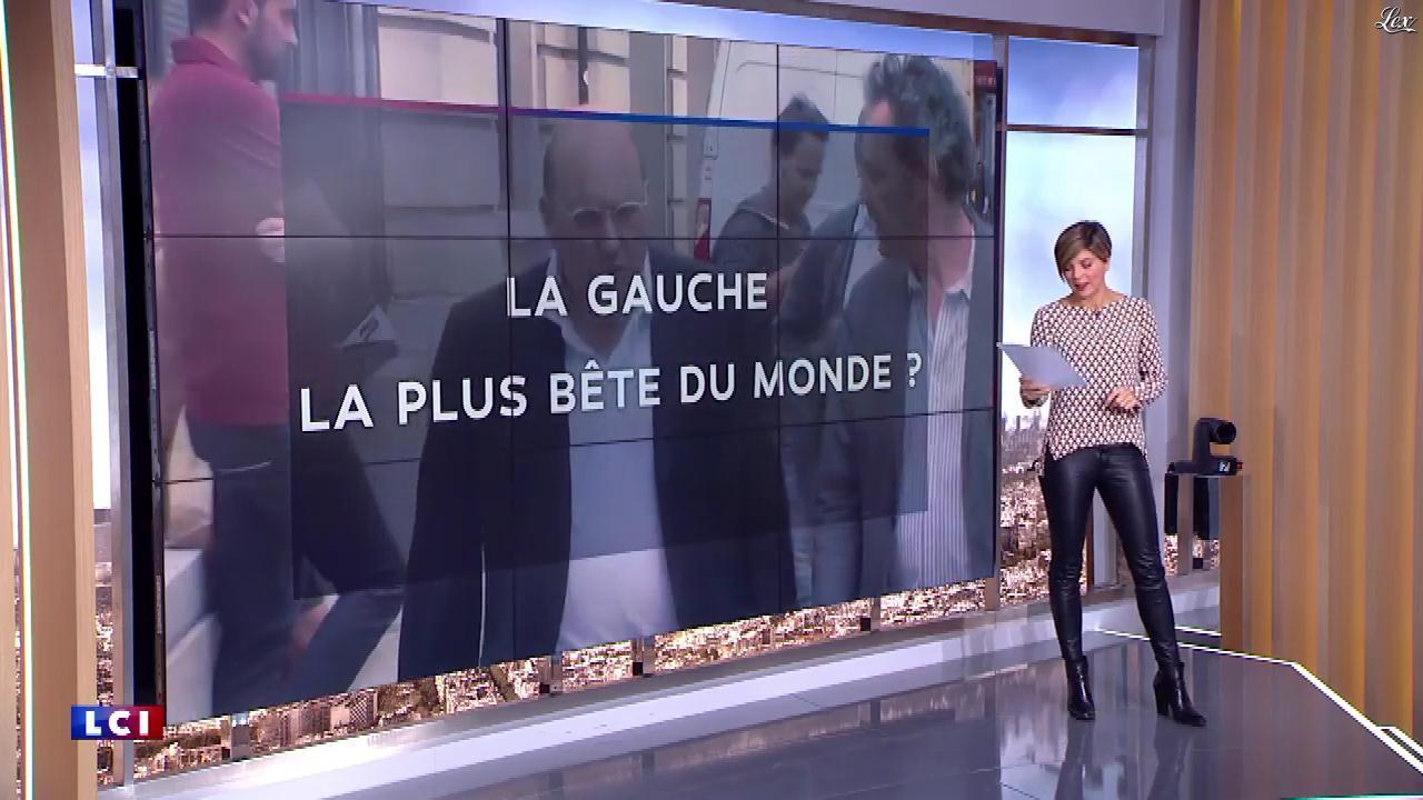 Benedicte Le Chatelier dans le Brunch de l'Info. Diffusé à la télévision le 14/10/18.
