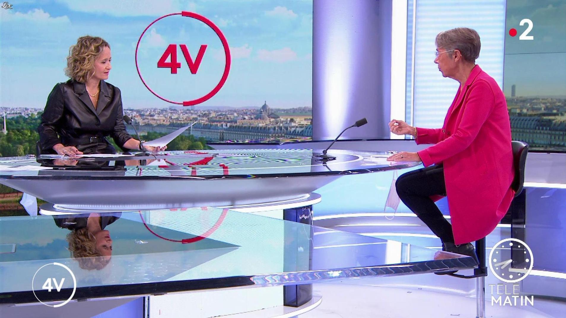 Caroline Roux dans les 4 Vérités. Diffusé à la télévision le 22/10/20.