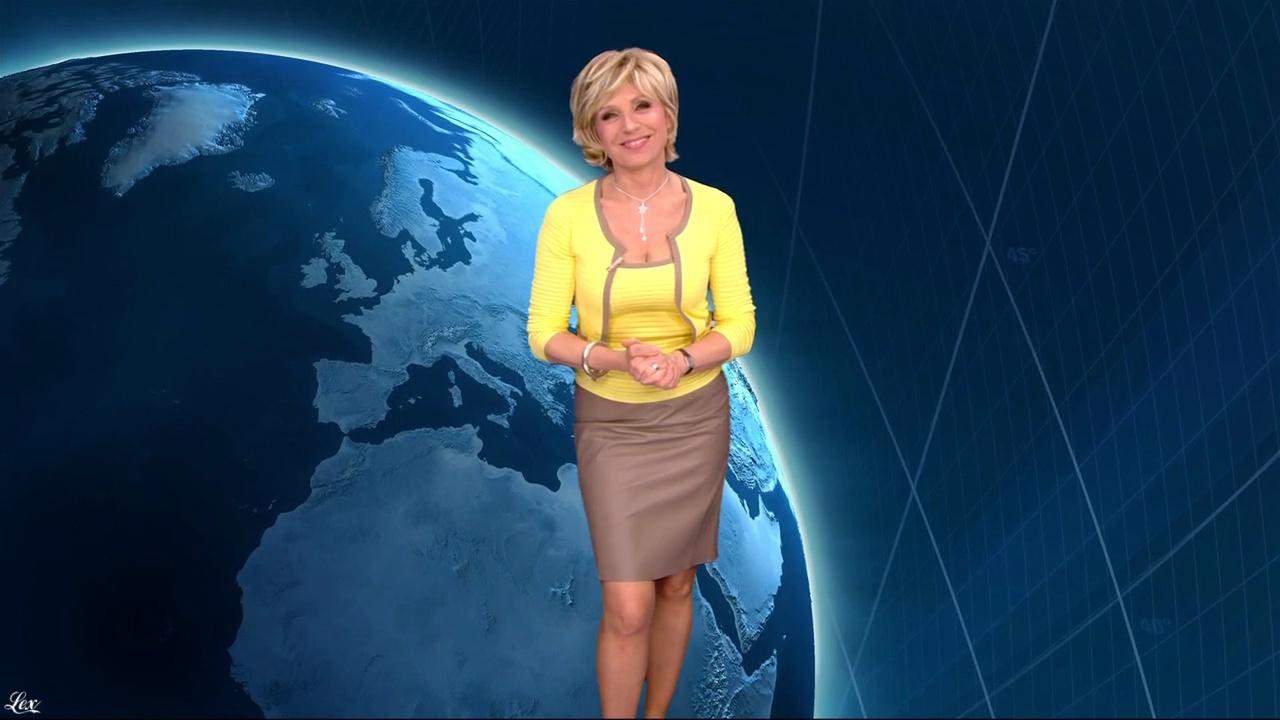 Evelyne Dhéliat à la Météo 20h. Diffusé à la télévision le 07/04/11.