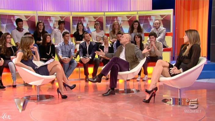 Silvia Toffanin et Cecilia Rodriguez dans Verissimo. Diffusé à la télévision le 05/02/11.