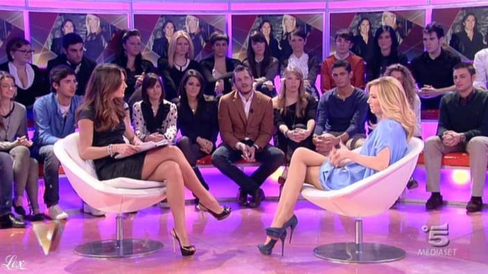 Silvia Toffanin et FederiÇa Panicucci dans Verissimo. Diffusé à la télévision le 19/02/11.