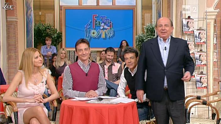 Adriana Volpe dans I Fatti Vostri. Diffusé à la télévision le 23/03/12.
