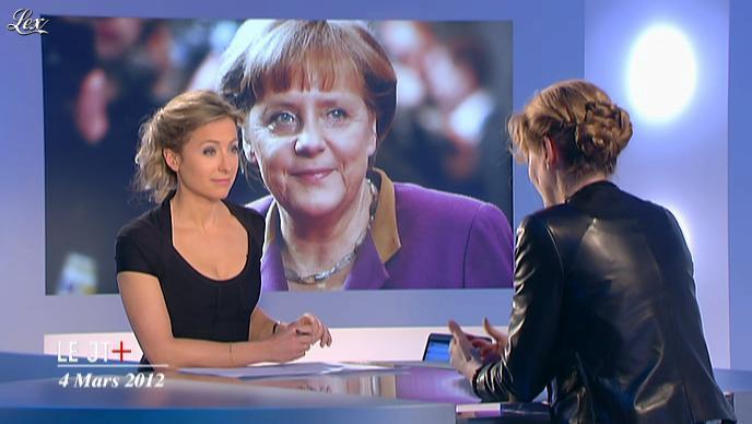 Anne-Sophie Lapix et Nathalie Kosciusko-Morizet dans Dimanche Plus. Diffusé à la télévision le 04/03/12.