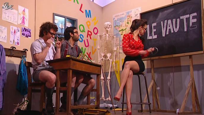 Charlotte le Bon dans le Petit Journal. Diffusé à la télévision le 19/04/12.
