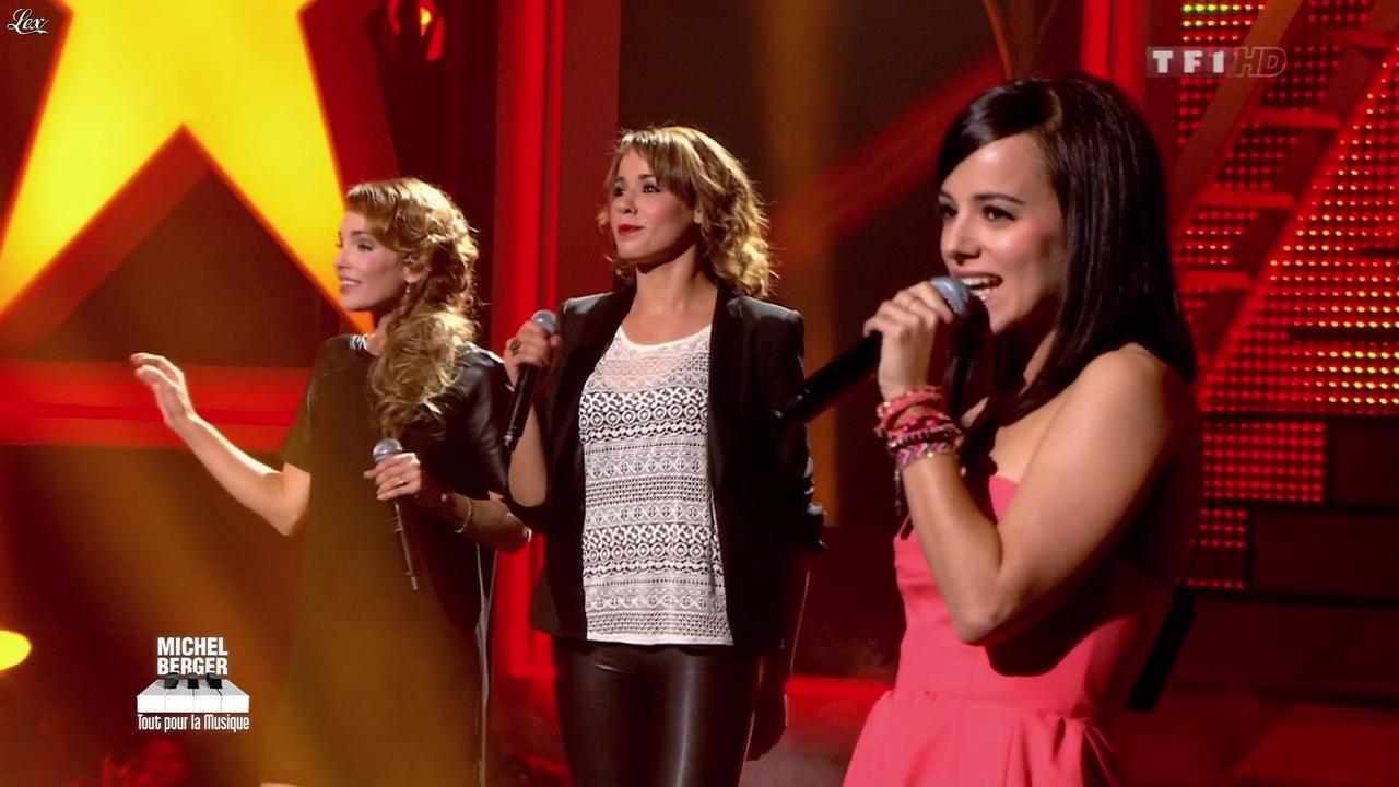 Chimène Badi, Alizée et Claire Keim dans Michel Berger Tout Pour la Musique. Diffusé à la télévision le 08/06/12.