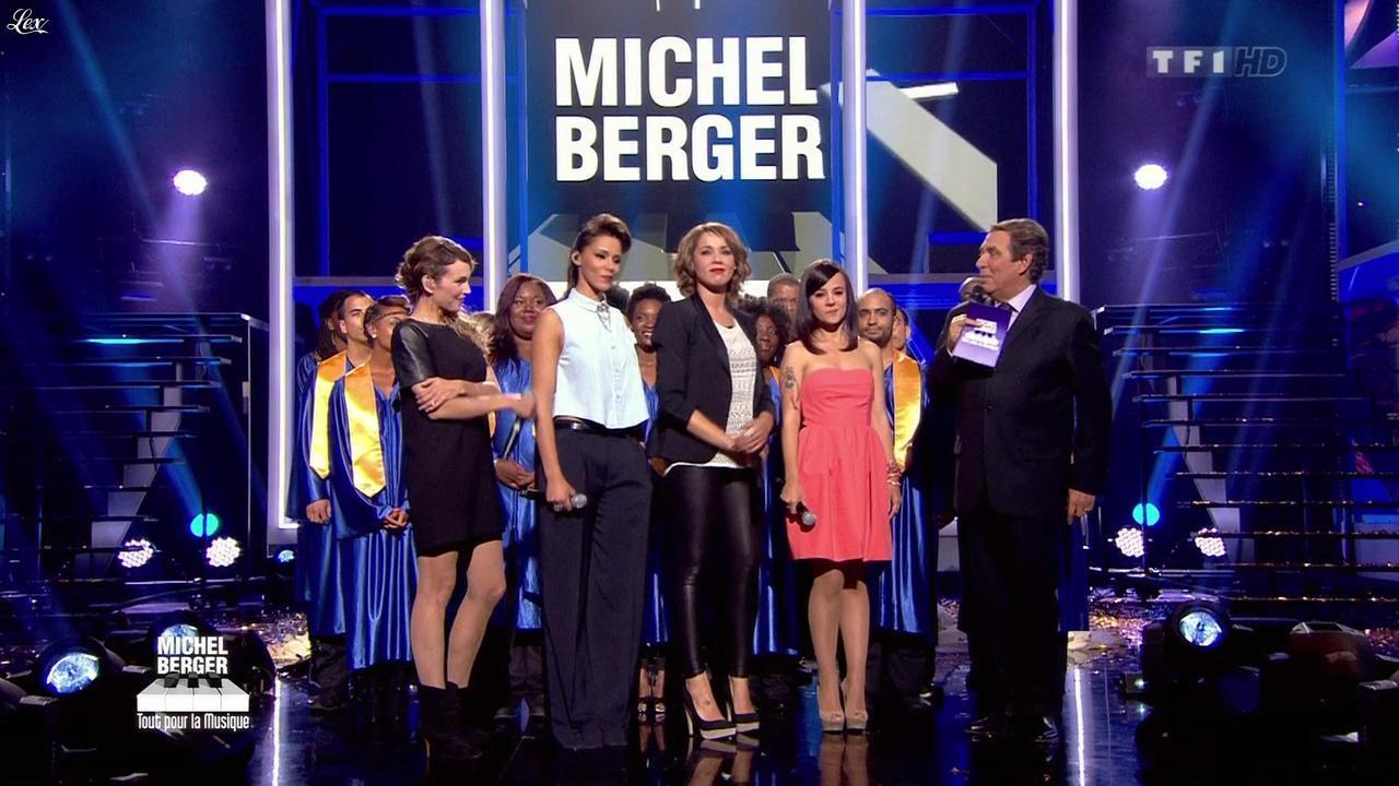 Chimène Badi, Alizée, Claire Keim et Shy'm dans Michel Berger Tout Pour la Musique. Diffusé à la télévision le 08/06/12.