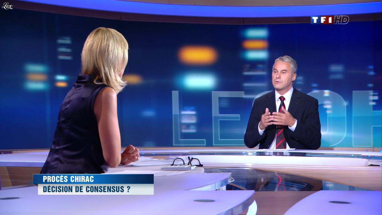 Laurence Ferrari au JT de 20h. Diffusé à la télévision le 05/09/11.