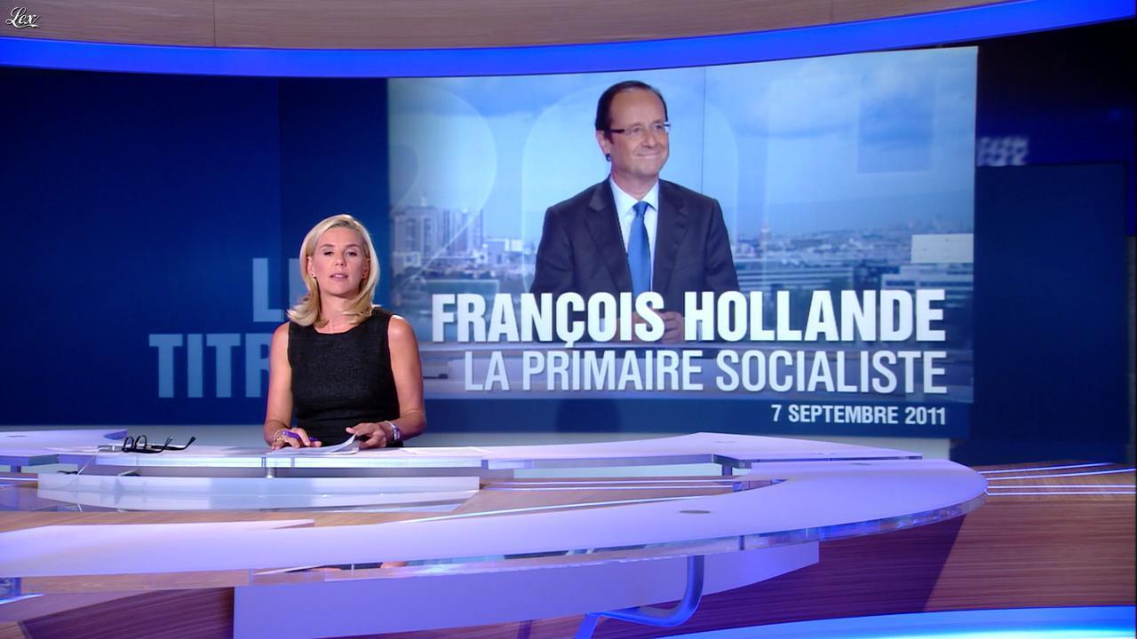 Laurence Ferrari au JT de 20h. Diffusé à la télévision le 07/09/11.
