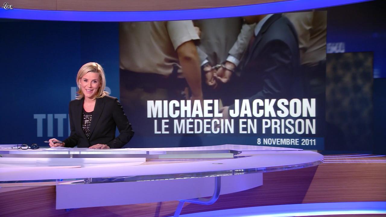 Laurence Ferrari au JT de 20h. Diffusé à la télévision le 08/11/11.