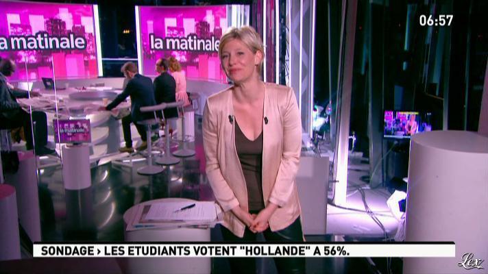 Maïtena Biraben dans la Matinale. Diffusé à la télévision le 11/04/12.