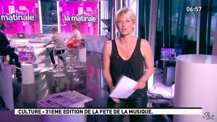 Maïtena Biraben dans la Matinale. Diffusé à la télévision le 21/06/12.