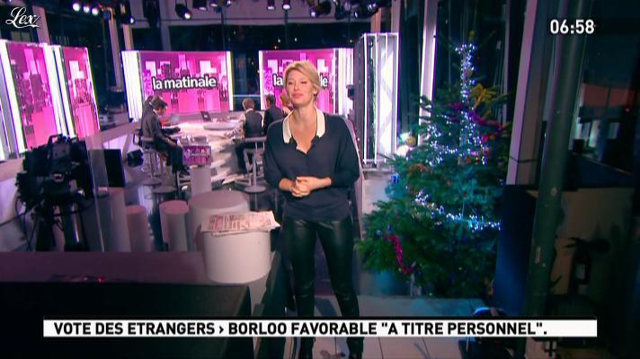 Maïtena Biraben dans la Matinale. Diffusé à la télévision le 28/11/11.