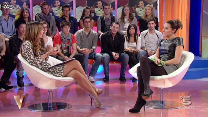Silvia Toffanin et Elisa Di FrancisÇa dans Verissimo. Diffusé à la télévision le 20/11/10.